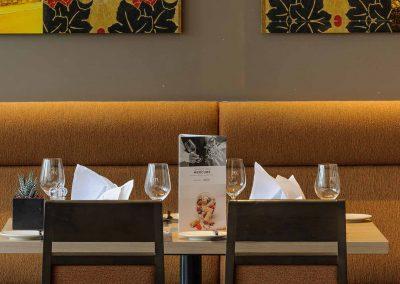 Fürther Mercure Hotel Nürnberg West Restaurant Eingedeckter Tisch